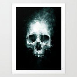 Skull Spatter Art Print