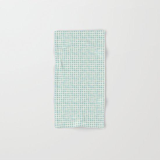 Blue Scribbles Pattern 02 Hand & Bath Towel