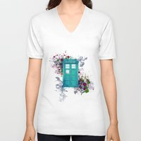 doctor who V-neck T-shirts featuring Doctor Who by Laain Studios