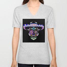 mariachi skull ecopop Unisex V-Neck