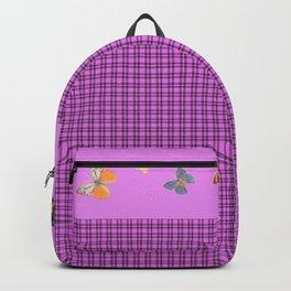 Plaid & Butterflies Backpack