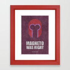 Magneto was right (Super Minimalist) Framed Art Print