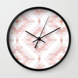 P neutral venetian bricks Wall Clock