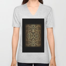 Ornament Gold Playing Card Unisex V-Neck