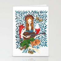 oana befort Stationery Cards featuring PLAY ME A SONG by Oana Befort