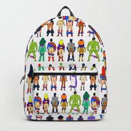 Superhero Butts - Power Couple on Grey Backpack