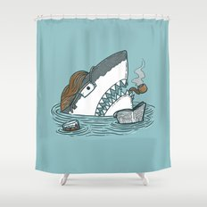 The Dad Shark Shower Curtain