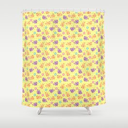 Freely Birds Flying - Fly Away Version 2 - Daffodil Color Shower Curtain