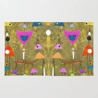 50s Area & Throw Rugs featuring Retro Fantasy 50s by Beatrice Roberts
