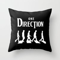 1d Throw Pillows featuring 1D Road by pygmy