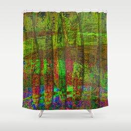 Luminous Landscape Abstract Shower Curtain