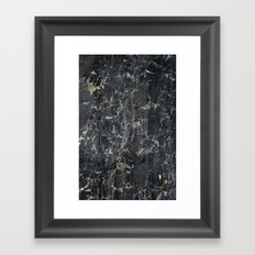 Old black marBLe Framed Art Print