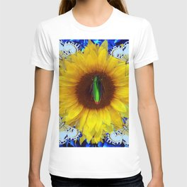 EMERALD GOLD BUG ON SUNFLOWER BUTTERFLY T-shirt