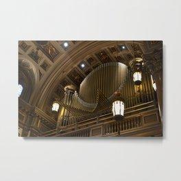 The Organ across the Altar Metal Print