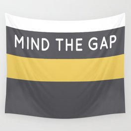 Mind The Gap London Underground Wall Tapestry