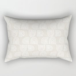 Handdrawn Rainbows in White Rectangular Pillow