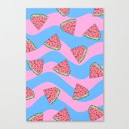 Watermelon Candy Canvas Print