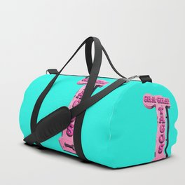 Cha-Cha's Tacos Retro Vintage Pink Sign Duffle Bag