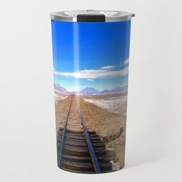 Bolivian Train Track Travel Mug