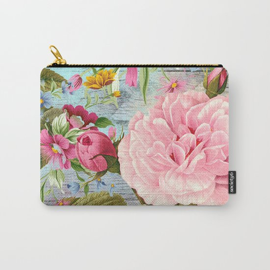 Vintage Flowers #6 Carry-All Pouch