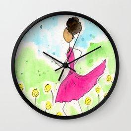 Tia Running So Happy Wall Clock