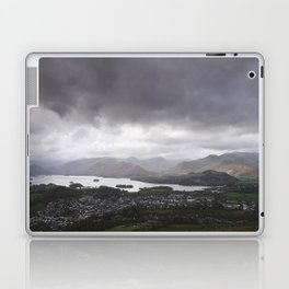 Rain clouds over Derwent Water and Keswick. Cumbria, UK. Laptop & iPad Skin