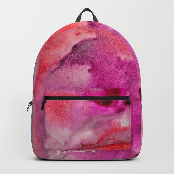 Abstract in Pink Backpack