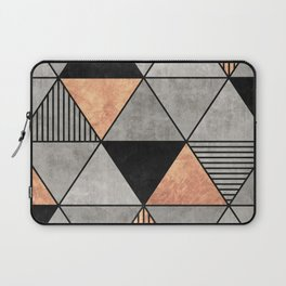 Concrete and Copper Triangles 2 Laptop Sleeve