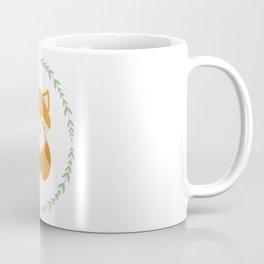 Sleepy Fox Pattern Coffee Mug