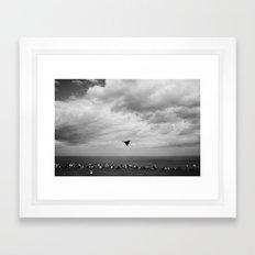 Vulcan Bomber Scarborough Fly-by Framed Art Print
