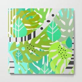 Green quiet jungle Metal Print