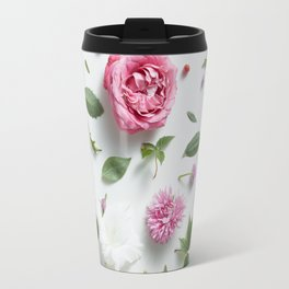 Beautiful Flower Layout Travel Mug