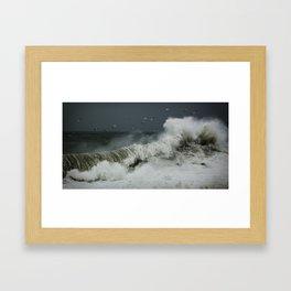 hokusai inspired Framed Art Print