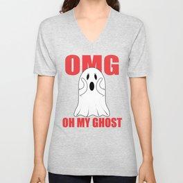 Oh My Ghost Unisex V-Neck