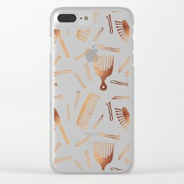 Good Hair Day – Rose Gold Palette Clear iPhone Case