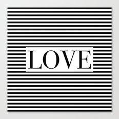 Monochromatic Love Canvas Print