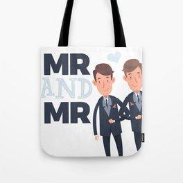 Mr and Mr gay wedding Tote Bag