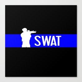 SWAT: Thin Blue Line Canvas Print