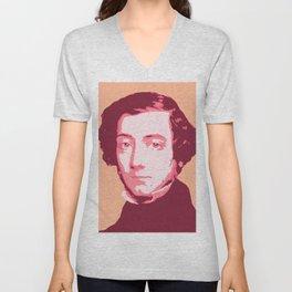 Alexis de Tocqueville Unisex V-Neck