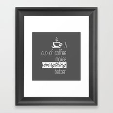 A cup of coffee Framed Art Print