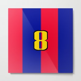 soccer team jersey number eight Metal Print