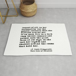 Deepest of all - Fitzgerald quote Rug