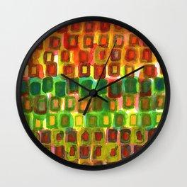 Frames under Color Wall Clock
