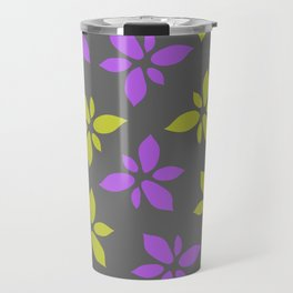 Illustration of flowers(grey background) Travel Mug