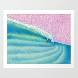 MOONMAN X BIGWAVE 2 Art Print