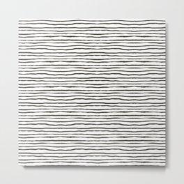wavy stripes Metal Print