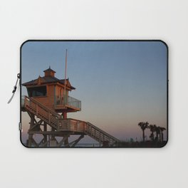 Guard Tower At Dusk Laptop Sleeve