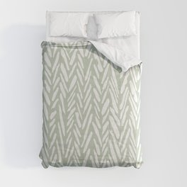 Herringbone mudcloth pattern - light green Comforters