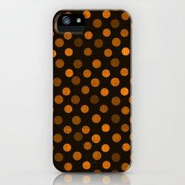 Retro Colored Dots Fabric Pumpkin Orange iPhone Case
