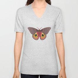 io moth (Automeris io) female specimen 1 Unisex V-Neck